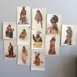 Set of 11 Vintage Native American Calendar Prints